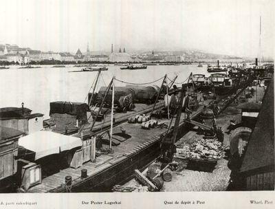Pesti rakodópart Budapest 1911