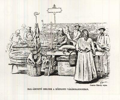 Vásárcsarnok a Vámház téren Budapest 1897.
