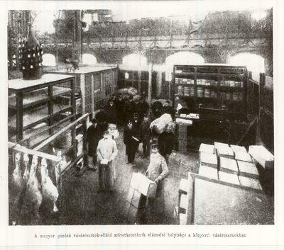Vásárcsarnok a Vámház téren Budapest 1904.