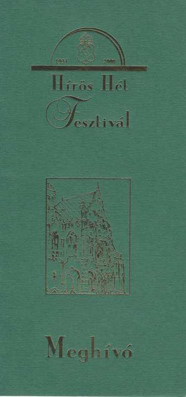Meghívó Hírös Hét Fesztivál