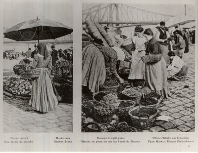 Piac Dunaparton Budapest 1911.
