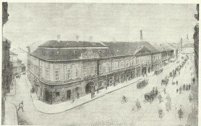 Ferencziek-tere régi állapotban