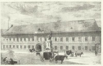 A Kuria régi épülete a Ferencziek terén