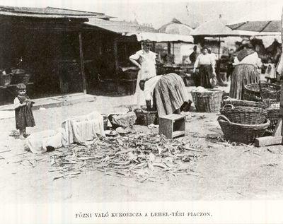 Piac a Lehel-téren Budapest 1910.