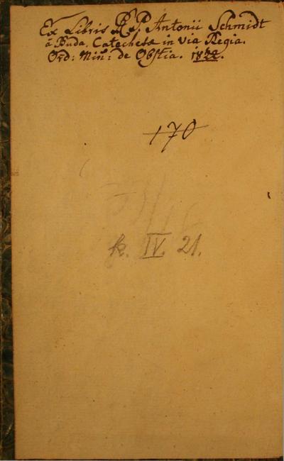 Schmidt Antal jegyzetei