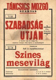 Táncsics Mozgó programjai 1949. október 7-19-ig