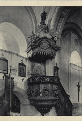 Felsőörs, prépostsági templom szószéke
