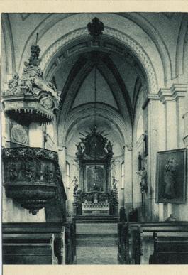 Felsőörs, prépostsági templom belseje