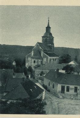 Felsőörs, látkép a prépostsági templommal