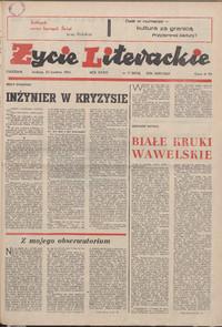 Życie Literackie. 1984, nr 17 (22 IV) = nr 1674