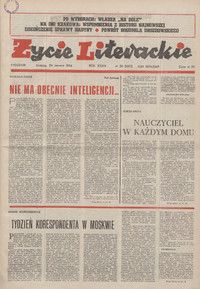 Życie Literackie. 1984, nr 26 (24 VI) = nr 1683