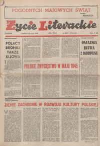 Życie Literackie. 1985, nr 18/19 (5/12 V) = nr 1728/1729