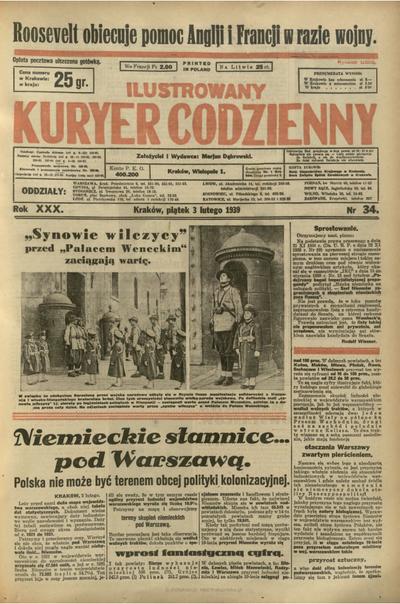Ilustrowany Kuryer Codzienny. 1939, nr 34 (3 II)