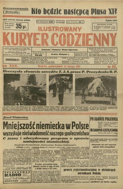 Ilustrowany Kuryer Codzienny. 1939, nr 44 (13 II)