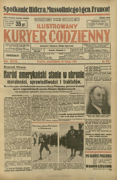 Ilustrowany Kuryer Codzienny. 1939, nr 51 (20 II)