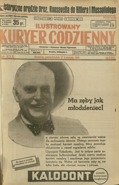 Ilustrowany Kuryer Codzienny. 1939, nr 105 (17 IV)