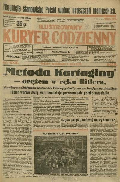 Ilustrowany Kuryer Codzienny. 1939, nr 119 (1 V)