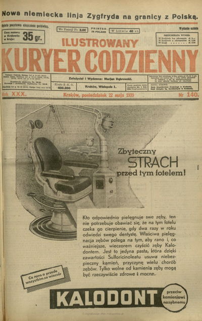 Ilustrowany Kuryer Codzienny. 1939, nr 140 (22 V)