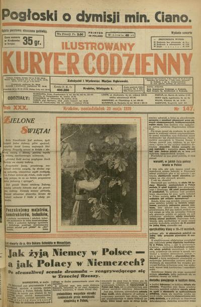 Ilustrowany Kuryer Codzienny. 1939, nr 147 (29 V)