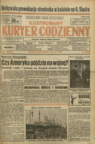 Ilustrowany Kuryer Codzienny. 1939, nr 153 (5 VI)