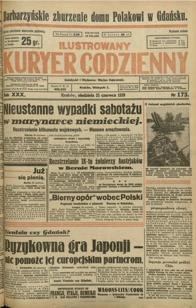 Ilustrowany Kuryer Codzienny. 1939, nr 173 (25 VI)