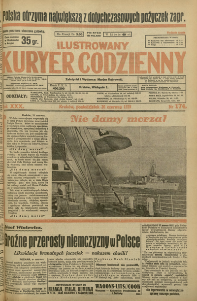 Ilustrowany Kuryer Codzienny. 1939, nr 174 (26 VI)