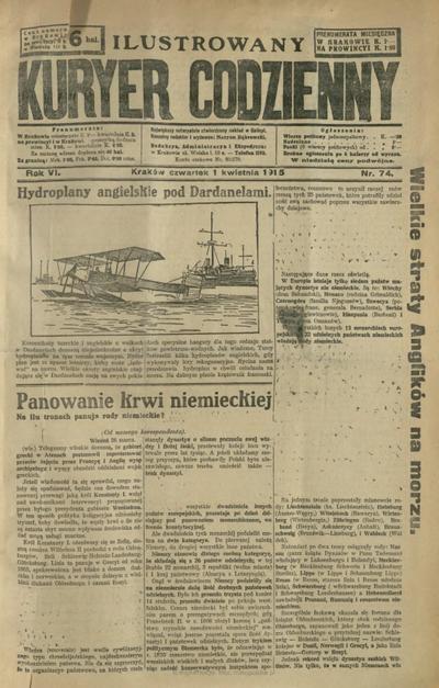 Ilustrowany Kuryer Codzienny. 1915, nr 74 (1 IV)