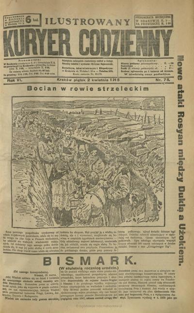Ilustrowany Kuryer Codzienny. 1915, nr 75 (2 IV)