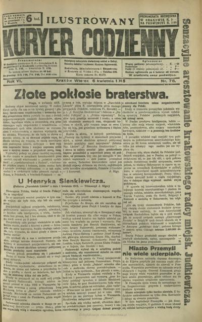 Ilustrowany Kuryer Codzienny. 1915, nr 78 (6 IV)