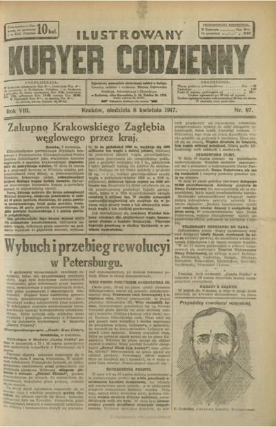 Ilustrowany Kuryer Codzienny. 1917, nr 97 (8 IV)