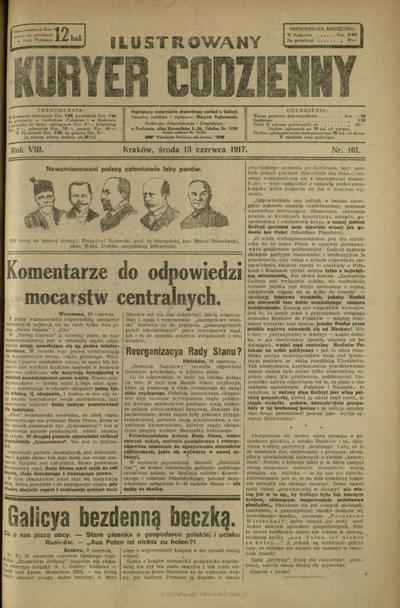 Ilustrowany Kuryer Codzienny. 1917, nr 161 (13 VI)