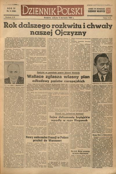 Dziennik Polski. 1948, nr 3 (3 I) = nr 1042