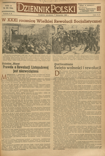 Dziennik Polski. 1948, nr 305 (7 XI) = nr 1344