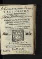 Catecismo y exposicion breve de la dotrina christiana / compuesto por el P.M. Geronimo de Ripalda ... ; aora de nuevo emendada, con quatro tratados muy devotos y el orden de ayudar a missa