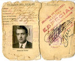 Permís de conducció de 1ª classe de Josep Farrús Feliu de La Pobla de Segur.