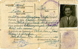 Carnet  de xofer i taxista de Josep Farrús Feliu, de La Pobla de Segur.