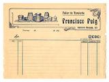 Document comptable en blanc de la boteria que Francisco Puig tenia a Terrassa