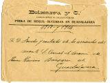 Carta de l'empresa Boixareu y Cª. Fabricants de llonganissa a Pobla de Segur. Sucursal a Guadalajara.