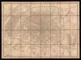 Plan de Paris fortifié et des communes environnantes