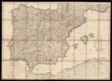 Carte d'Espagne et de Portugal : comprenant les routes des Portes et autres de ces duez Royaumes