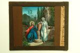 Il·lustració de Jesús parlant amb una samaritana
