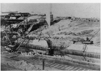 Construcció drassanes , de la Cia Trasatlantica , a Matagorda