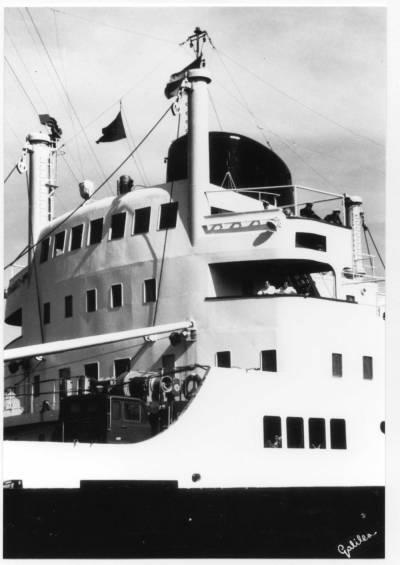 Motonau RUISEÑADA , de la Cia Trasatlantica , pont de comandament