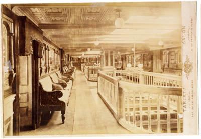 Interior del vapor ANTONIO LOPEZ ( 2 ), de la Cia Trasatlantica