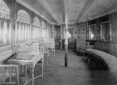 Interior del vapor ALFONSO XIII 1 , de la Cia Trasatlantica .