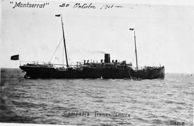 Motonau MONTSERRAT , de la Cia Trasatlantica
