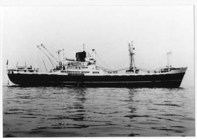 Motonau RUISEÑADA , de la Cia Trasatlantica , navegant