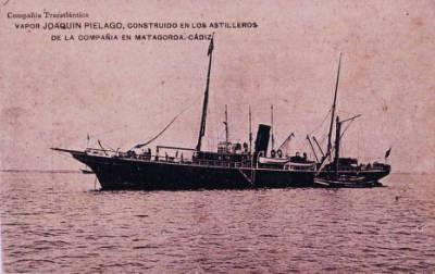 Vapor JOAQUIN DE PIELAGO , de la Cia Trasatlantica