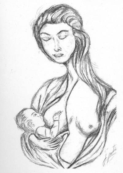 Esbós escultura maternitat