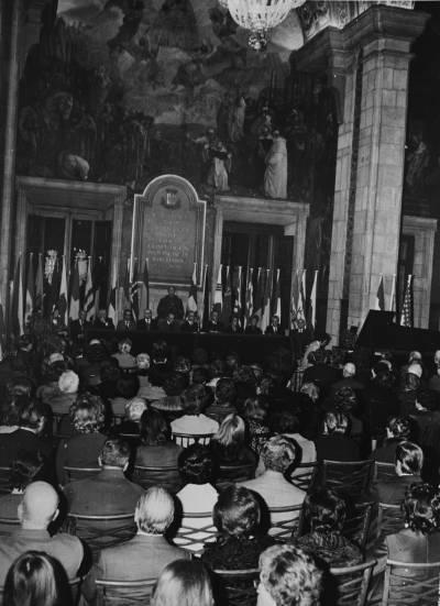 Vista general de l'acte de cloenda de la XIX edició del Concurs Maria Canals, celebrat al Saló Sant Jordi de la Diputació de Barcelona, amb l'actuació de de Jonathan M. Purvin, guanyador del primer premi de piano